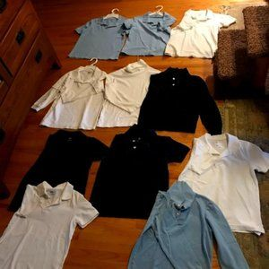 Boys Uniform Tops and Bottoms - Bundle of 14 Items
